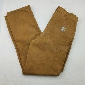 Carhartt Flame Resistant Brown Pants 34x34